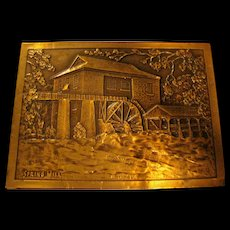 Hand Hammered Copper Decorative Plaque of Spring Mill Indiana