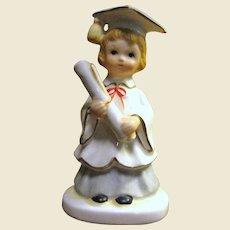Hand Painted Lefton Girl Graduate Figure # 01798