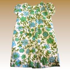 Sweet 70's Cap Sleeve Shift Dress for Medium Doll