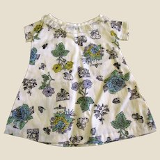 Cute Vintage Shift Dress w/ Lace Collar for Medium Doll