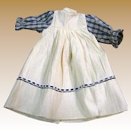 Vintage Country Style Cotton Dress for Medium Doll