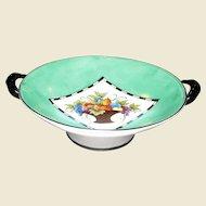 Noritake Art Deco 2 Handled Pedestal Bowl, Circa 1921