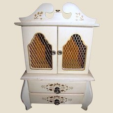 """French Style 13"""" Music Box Armoire"""