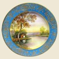 Art Deco Morimura Noritake Hand Painted Landscape Plate