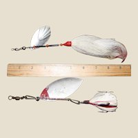 Two Flash Spinner Lures Salt or Fresh Water Fishing 8""