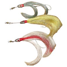 Three Vintage Salt Water Trolling Lures Jigs