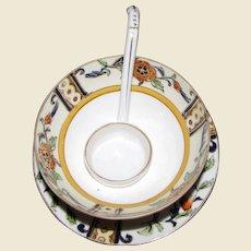 Art Deco Morimura Noritake Hand Painted Mayo Set