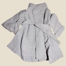 Vintage Check Duster Coat Dress for Medium Doll