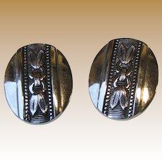 Whiting & Davis Silver-tone Clip Back Earrings, Elegant!