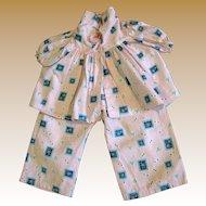 Factory Pajama or Lounge Set for Medium Vintage Doll
