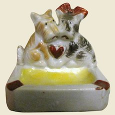 1950's Terriers In Love Ashtray, Japan