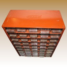 Vintage RAACO Professional Range 45 Drawer Storage Cabinet