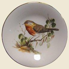 Royal Kendal English Robin Bone China Trinket Tray