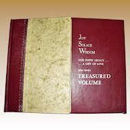 Treasured Volume - An Anthology of Poems Collected by John Scott, 1967, Boxed, Like New