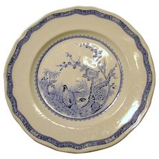 "Furnivals ""Quail"" 8 1/2"" Plate w/ Round Backstamp"