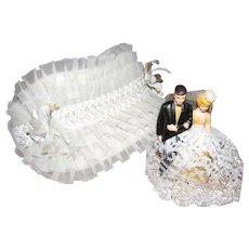 1950's Wedding Cake Topper & Bridal Bonnet