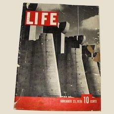 LIFE Magazine, November 23 1936, Bourke-White photography, 1st Edition