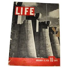 LIFE Magazine, November 23 1936, Bourke-White photography, 1st Edition
