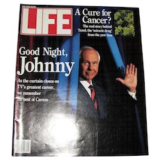 Vintage May 1992 LIFE Magazine - Johnny Carson Farewell Special