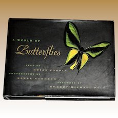 A World of Butterflies by Brian Cassie, HCDJ, Full of Illustrations, Like New