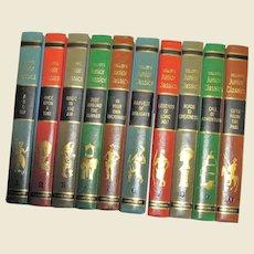 Collier's Junior Classics Volumes 1-10, 1962, Hardcover, Excellent