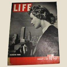 LIFE Magazine February 6, 1939, Washington, Peruke, US Gambling, Curtis Wright Hawk