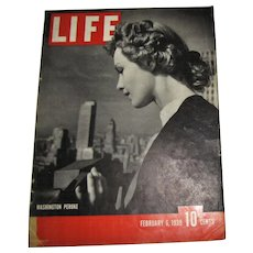 LIFE Magazine February 6, 1939, Washington, Peruke, US Gambling, Curtis Wright Hawk