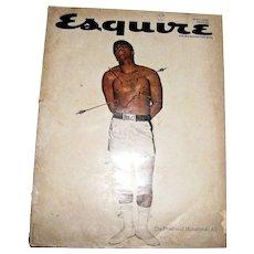 Vintage Esquire Magazine April 1968 - The Passion of Muhammad Ali