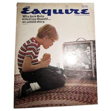 Esquire Magazine May1967 - Shelby Mustang; Gay Talese; Jack Ruby; Molokai Island; Gardner