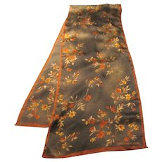 """52"""" by 10"""" Fine Poly Floral Scarf by Jones NY, Lovely Fall Shades!"""
