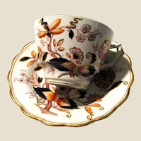 """TWO Antique Booths """"Fresian"""" Cup & Saucer Sets"""