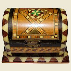 Beautiful Small Marquetry Domed Trinket Box