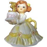 Vintage Lefton 3rd Birthday Girl Figurine #549-3