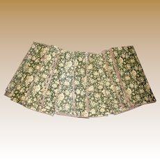 """10 Floral Poly Cotton 17"""" Sq Napkins"""