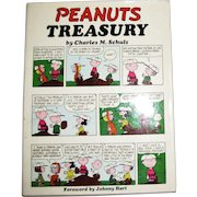 1968 'Peanuts Treasury' Stated First Edition, Second Printing, Unclipped DJ, Cartoons, Charlie Brown, Charles M. Schultz, Snoopy, Comic Strip, HCDJ, Near Mint