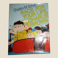 1978, Race for Your Life Charlie Brown by Charles M. Schulz, HCDJ, Stated 1st Edition