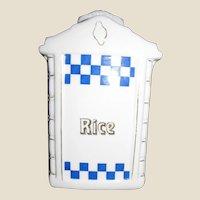 Art Deco German Mepoco Porcelain Rice Canister w/ Original Lid