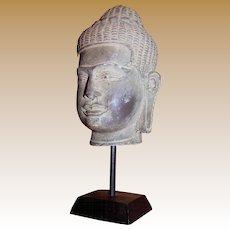 "8"" Cast Stone Resin Buddha Head"