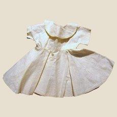 !950's Cream Full Skirt Day Dress for Medium Doll