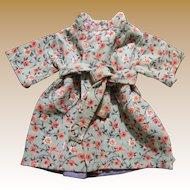 Floral Corduroy Wrapper Coat for Medium Doll
