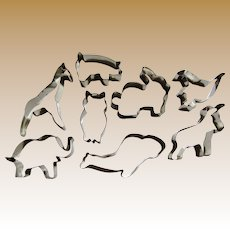 8 Animal Themed Metal Cookie Cutters