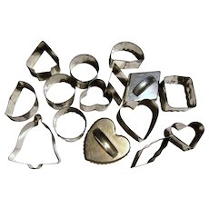 15 Metal Cookie Cutters, Lots of Shapes & Sizes