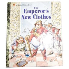 The Emperor's New Clothes (Little Golden Book) by Hans Christian Anderson (Hardcover) Nearly New