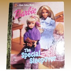 Barbie The Special Sleepover (Little Golden Book) by Francine Hughes  (Hardcover)