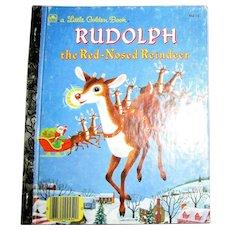 Rudolph the Red-Nosed Reindeer by Barbara Shook Hazen (Little Golden Book) 1990