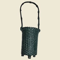 19th Century Victorian Cast Iron Spill Holder, Basket Design