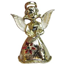 Angel w/ Poinsettia Pin by Gerry's