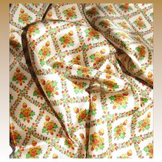 """24"""" Sq Pure Silk Twill Scarf, Beige w/ Multi Tone Floral's by Echo"""