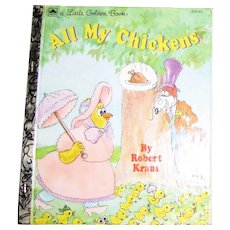 All My Chickens by Robert Kraus, Little Golden Book (1993) Hardcover, Nearly New