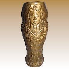 Luxor Casino Gilt Tumbler or Vase, King Tutankhamen
